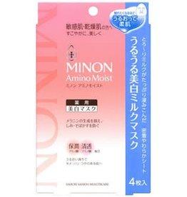 MINON Minon 氨基酸敏感肌用保濕面膜 最新版本 美白款 4Pc