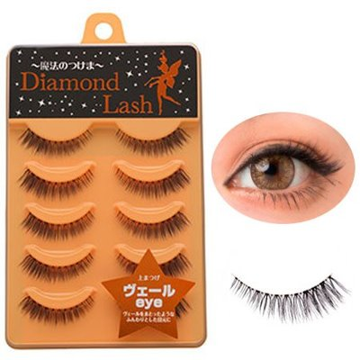 Diamond Lash 清純自然束感假睫毛 DL54598 橘盒