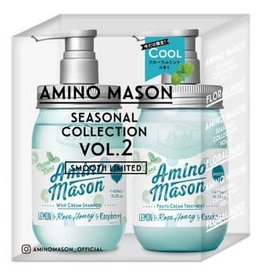 Amino Mason氨基酸柔滑洗髮 花卉薄荷限量套裝