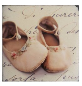Cedar Mountain Small Art Block Baby Shoes Pink