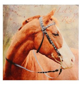 Cedar Mountain Small Art Block Lets Ride