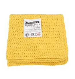 Now Designs Homespun Dishcloth s/2 Lemon