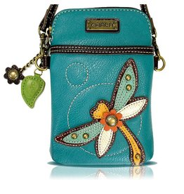 Chala Cellphone Crossbody Dragonfly Turquoise