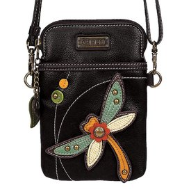 Chala Cellphone Crossbody Dragonfly Black