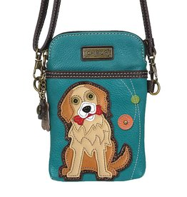 Chala Cellphone Crossbody Golden Retriever Turquoise
