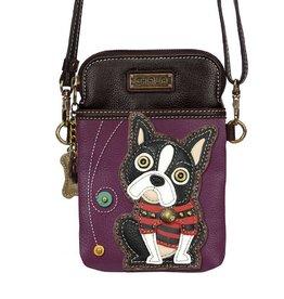 Chala Cellphone Crossbody Boston Terrier Purple