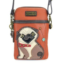 Chala Cellphone Crossbody Pug Orange