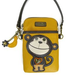 Chala Cellphone Crossbody Monkey Yellow