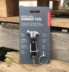 Kikkerland Mini Black Hammer Tool Keychain