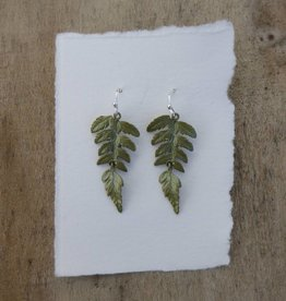 Michael Michaud Design Fern Large Single Leaf Wire Earrings