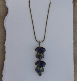 "Michael Michaud Design MMD 7892BZBC Blueberry 18"" Adj. Pendant on Snake Chain"