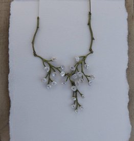 "Michael Michaud Design Baby's Breath 16"" Adj. Necklace"