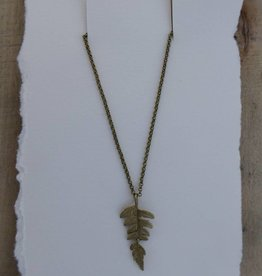 "Michael Michaud Design Fern 18"" Adj. Pendant On Chain"
