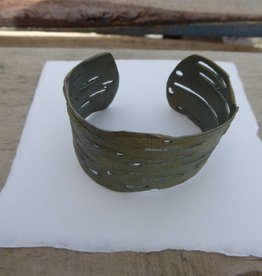 Michael Michaud Design MMD 7116BZ Birch Bark Small Cuff Bracelet Green tone