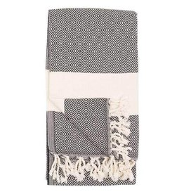 Pokoloco Turkish Towel Diamond Carbon