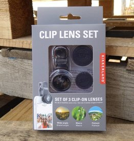 Kikkerland Phone Clip Lens Kit set of 3