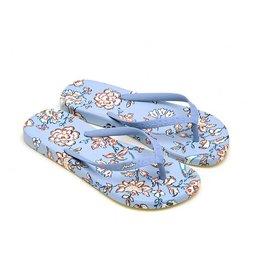 Joules Flipflops Blue Indienne Floral