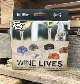 Fred Wine Lives Kitty Wine Markers