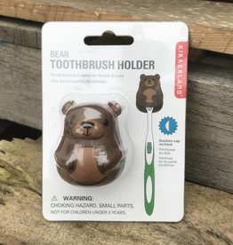 Kikkerland Toothbrush Holder Bear