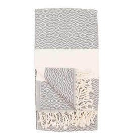 Pokoloco Turkish Towel Diamond Slate
