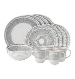 Royal Doulton ED Charcoal Grey Lines 16 piece set