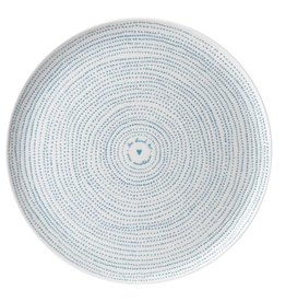 Royal Doulton ED Platter Polar Blue Dots