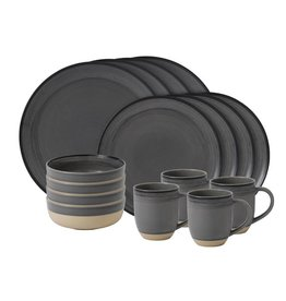 Royal Doulton ED Brushed Charcoal Grey 16 piece set