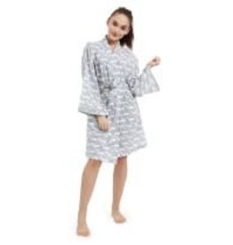 Mohagany Robe Cotton Gray Whale