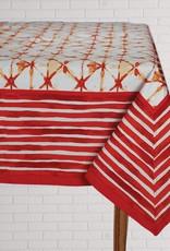 Tablecloth Shibori Coral 60x90