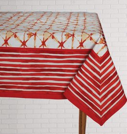 Tablecloth Shibori Coral 60x90