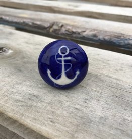 Ceramic Blue Anchor Knob