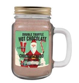 Hot Chocolate Jar Retro Santa