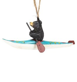 Black Bear in Kayak Ornament