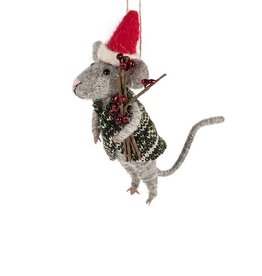 Mouse In Santa Hat & Sweater