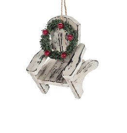 27-WINTER-7276 Cottage Chair Wreath Ornament