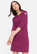 Joules Joules Riviera Jersey Dress Plum Stripe