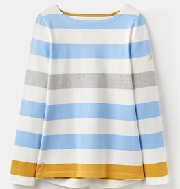 Joules Joules Harbour Jersey Top Blue Gold Stripe
