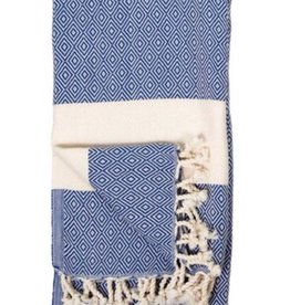 Pokoloko Turkish Towel  Diamond Navy