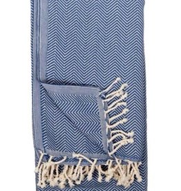 Pokoloko TTHE4 Turkish Towel  Herringbone Azul