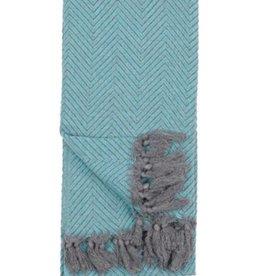 TTLF1 Turkish Towel Fishbone Teal