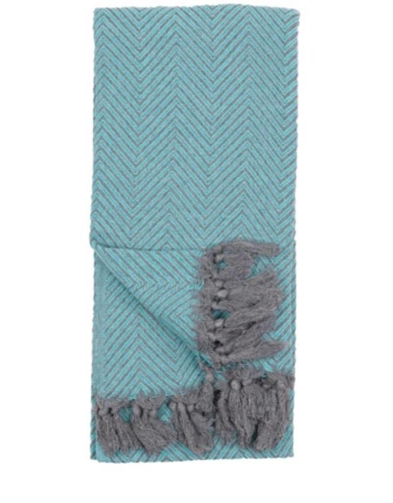 TTLF1 Turkish Towel Fishbone Teal