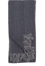 TTLF4 Turkish Towel Fishbone Black