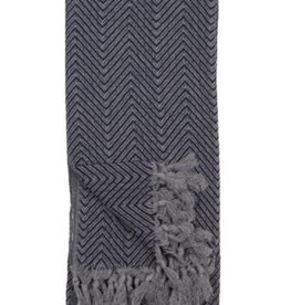 Pokoloko Turkish Towel Fishbone Black