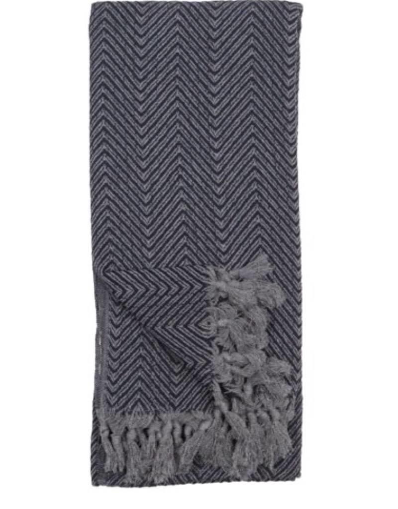 Pokoloko TTLF4 Turkish Towel Fishbone Black