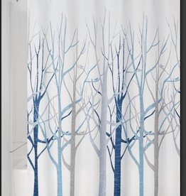 Shower Curtain Forest Gray Blue