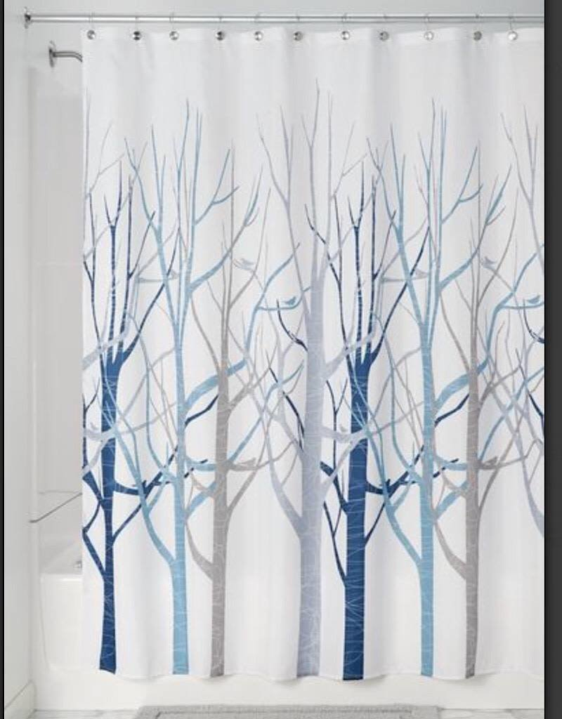 45022 Shower Curtain Forest Gray Blue
