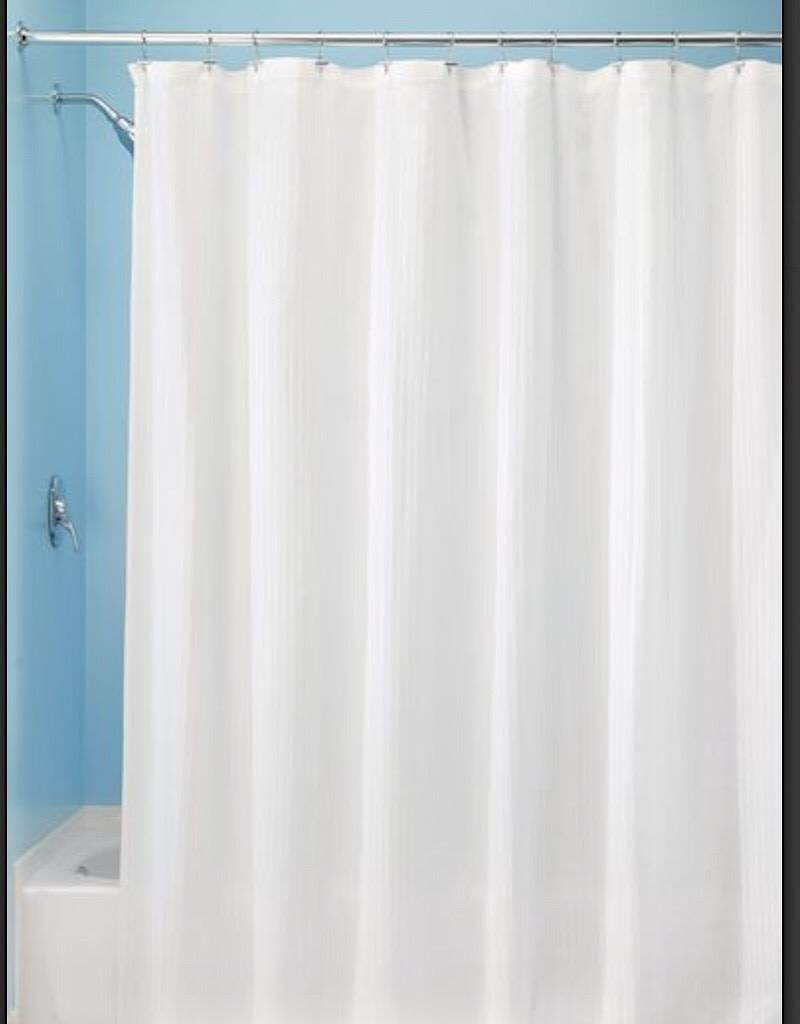 33380 Shower Curtain Hugo SC White