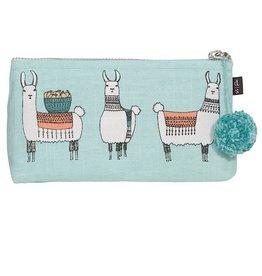 Now Designs Bag Linen Cosmetic Pencil Llamarama lama