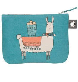 Now Designs Zip Pouch Large Llamarama