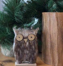 1970216 Xmas Decor Wood Owl